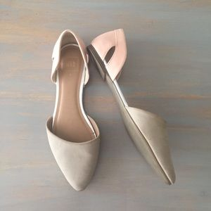 GAP Tan and Blush Pointed Flats Size 9